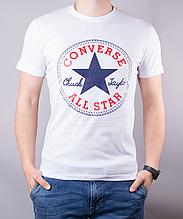 Футболка мужская хлопковая Converse белая, Белый, M
