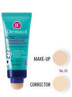 Dermacol Make-Up Тональный крем с корректором для проблемной кожи Acnecover and Corrector, Тон № 1