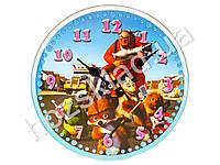 """Часы настенные детские """"Мультфильмы"""" круглые кварц. МДФ 25см"""