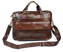 Сумка мужская кожаная портфель коричневая Premium Украина