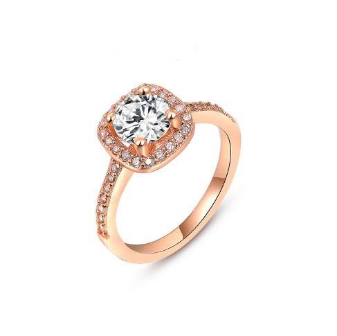 Позолоченное кольцо с кристаллами код 298