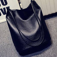 Сумка мешок женская черная код 3-245