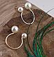 Модне жіноче кільце з подвійним перлами код 1052, фото 5