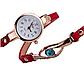 Наручные женские часы с красным ремешком код 208, фото 2