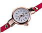 Наручные женские часы с красным ремешком код 208, фото 3