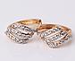 Позолочені сережки з білими цирконами код 1221, фото 2
