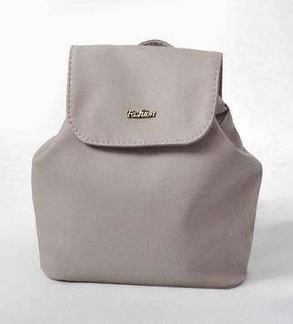 Женский серый мини рюкзак код 9-52