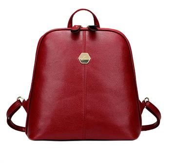 Сумка рюкзак женская бордовая код 3-309