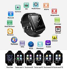 Умные смарт-часы Smart Watch U8 Black, фото 2