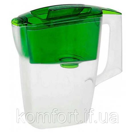 Фильтр Кувшин для воды Гейзер Альфа Зеленый, фото 2
