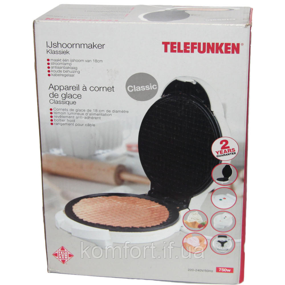 Вафельница «Telefunken» 750W