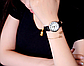 Стильные часы женские с черным ремешком код 355, фото 3