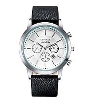 Наручные мужские часы с черным ремешком код 364