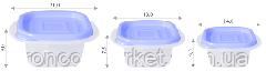 """Контейнер (емкость) для пищевых продуктов """"Омега"""" квадратный - 2,1Л, фото 3"""
