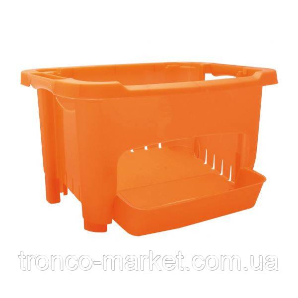 Корзина для хранения овощей оранжевая, пластик
