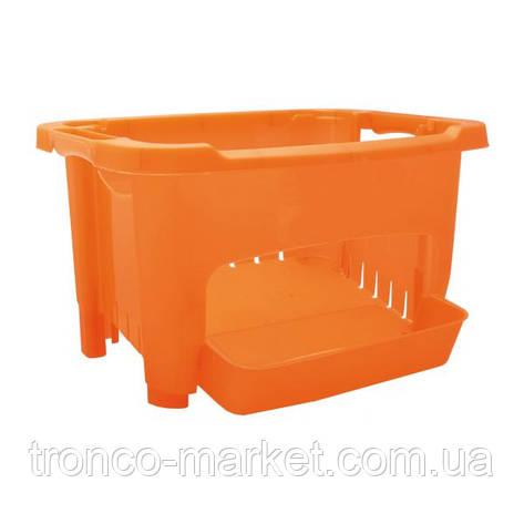 Корзина для хранения овощей оранжевая, пластик, фото 2