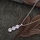 Ланцюжок з кулоном покриття срібло код 1373, фото 3