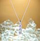 Ланцюжок з кулоном покриття срібло код 1373, фото 4