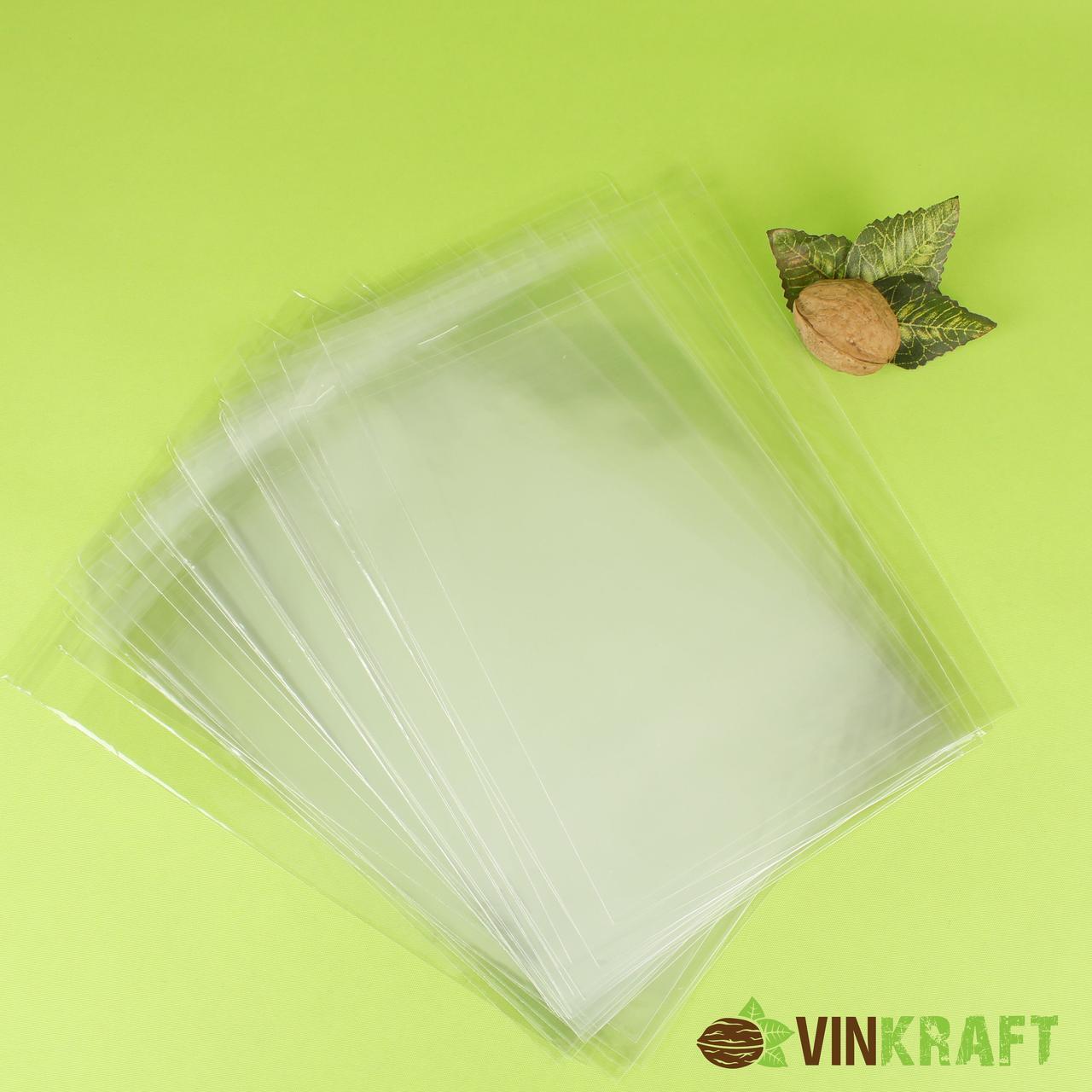 Пакет 18*30 см (з липкою стрічкою) поліпропіленовий  (100 шт)