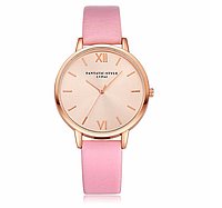 Наручные женские часы c розовым ремешком код 381