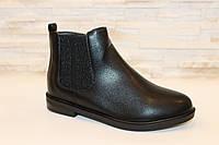 Ботинки женские черные Д543