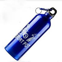 Велосипедная Фляга Robesbon вело бутылка для воды алюминиевая Blue