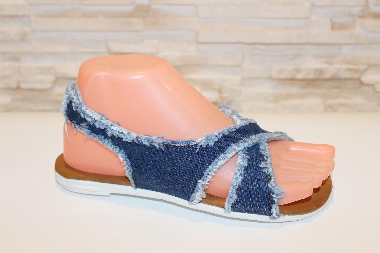Босоножки женские джинсовые Б965