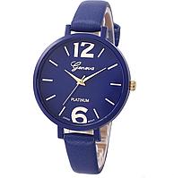 Наручные часы Женева с синим ремешком код 245