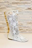 Сапоги летние женские белые ажурные Б26