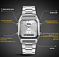 Наручные мужские часы с серебристым ремешком код 403, фото 2