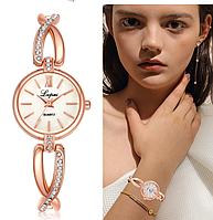 Женские наручные часы с золотистым ремешком код 414