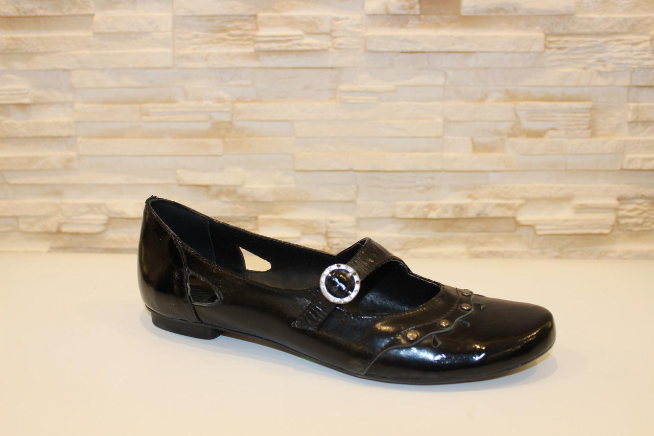Туфли женские черные натуральная кожа Т91
