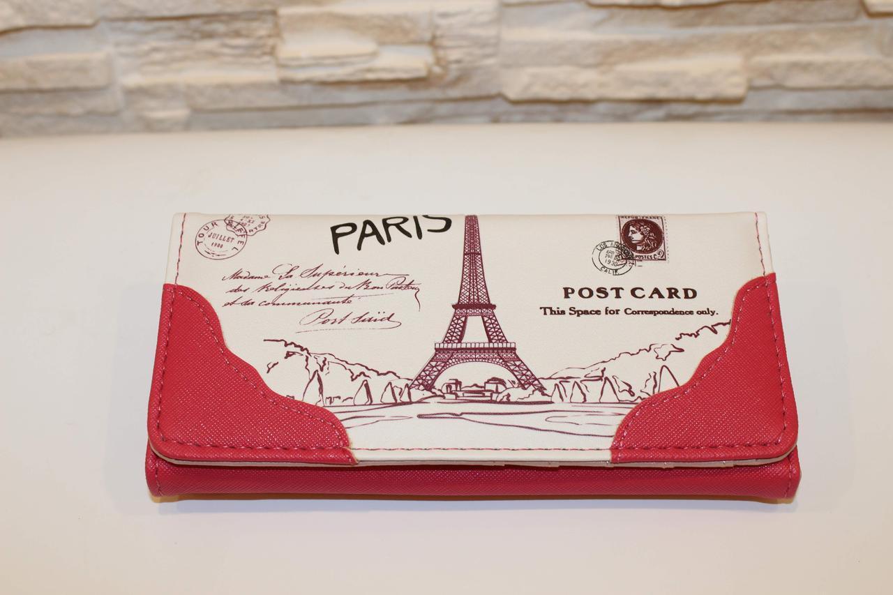 Кошелек женский Париж розовый код 286