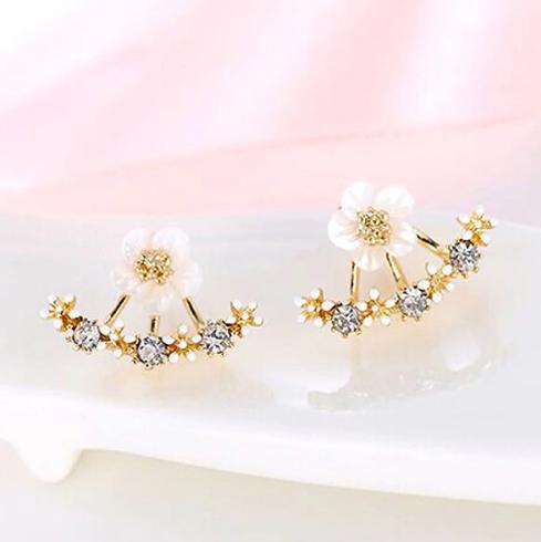 Серьги-гвоздики с кристаллами код 1512