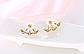 Серьги-гвоздики с кристаллами код 1512, фото 2