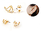 Серьги-гвоздики с кристаллами код 1512, фото 3
