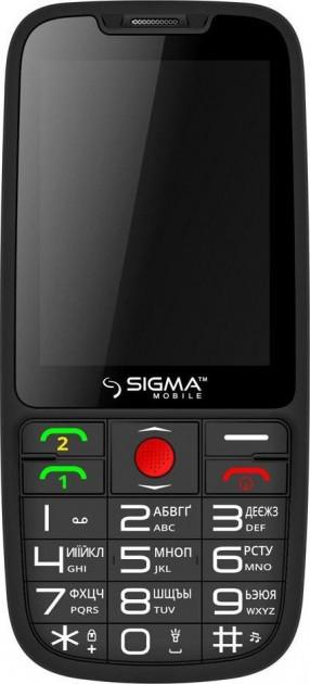 Кнопочный мобильный телефон Sigma mobile Comfort 50 Elegance 3.0 Black