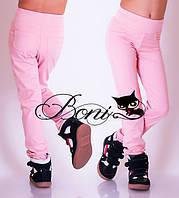 Детские розовые штаны для девочки 6 -10 лет