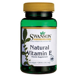 Swanson Premium Natural Vitamin E 200 МЕ (150 мг) 100  ЖК