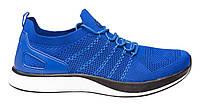 Весенние - летние мужские кроссовки сетка, синие. Размеры 41, 44, 45. Restime 19622.