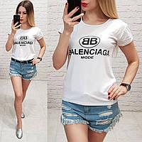 Женская футболка летняя реплика Balenciaga качество турция цвет белый, фото 1