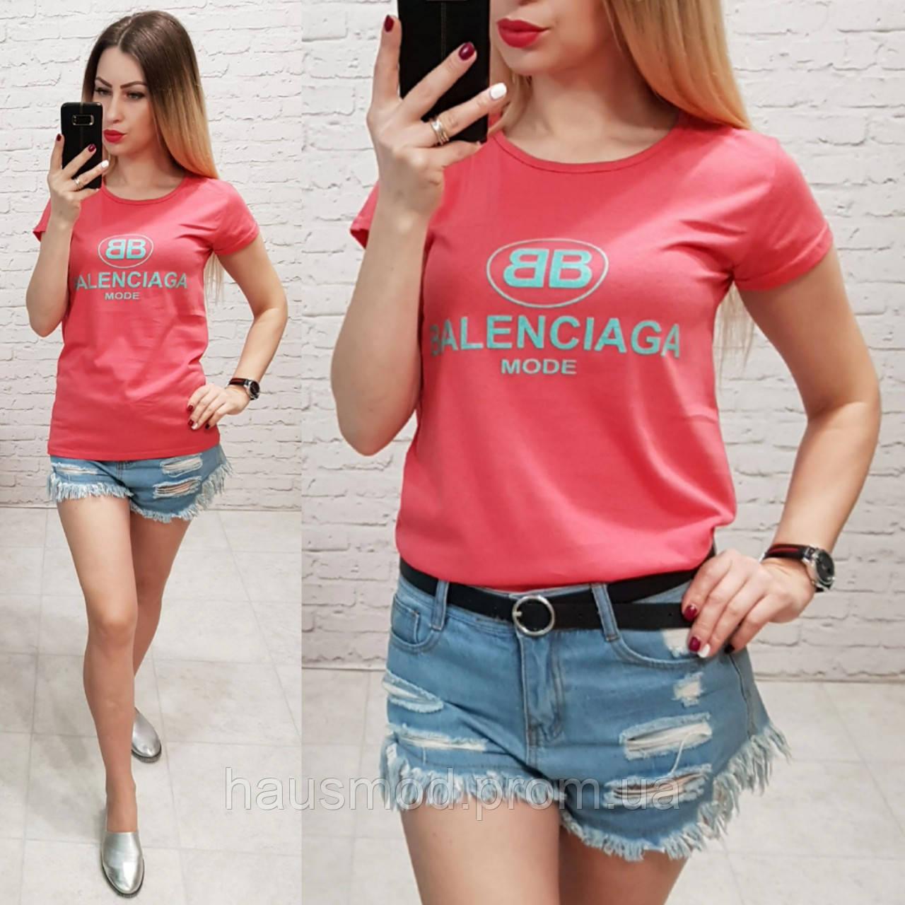 Футболка женская летняя реплика Balenciaga качество турция цвет красный