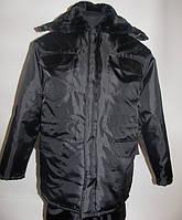 Куртка утепленная «Охрана»  с меховым воротником . Куртки для охраны.