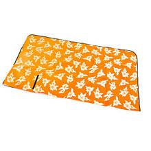 Килимок туристичний для пікніка 130*170см G04 помаранчевий плед похідний