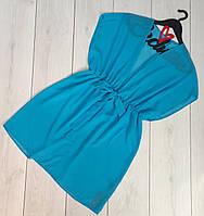 Пляжная одежда, короткая шифоновая туника.