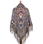 Исполнение желаний 1799-16, павлопосадский платок шерстяной (двуниточная шерсть) с шелковой вязаной бахромой, фото 2