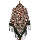 Исполнение желаний 1799-9, павлопосадский платок шерстяной (двуниточная шерсть) с шелковой вязаной бахромой, фото 3