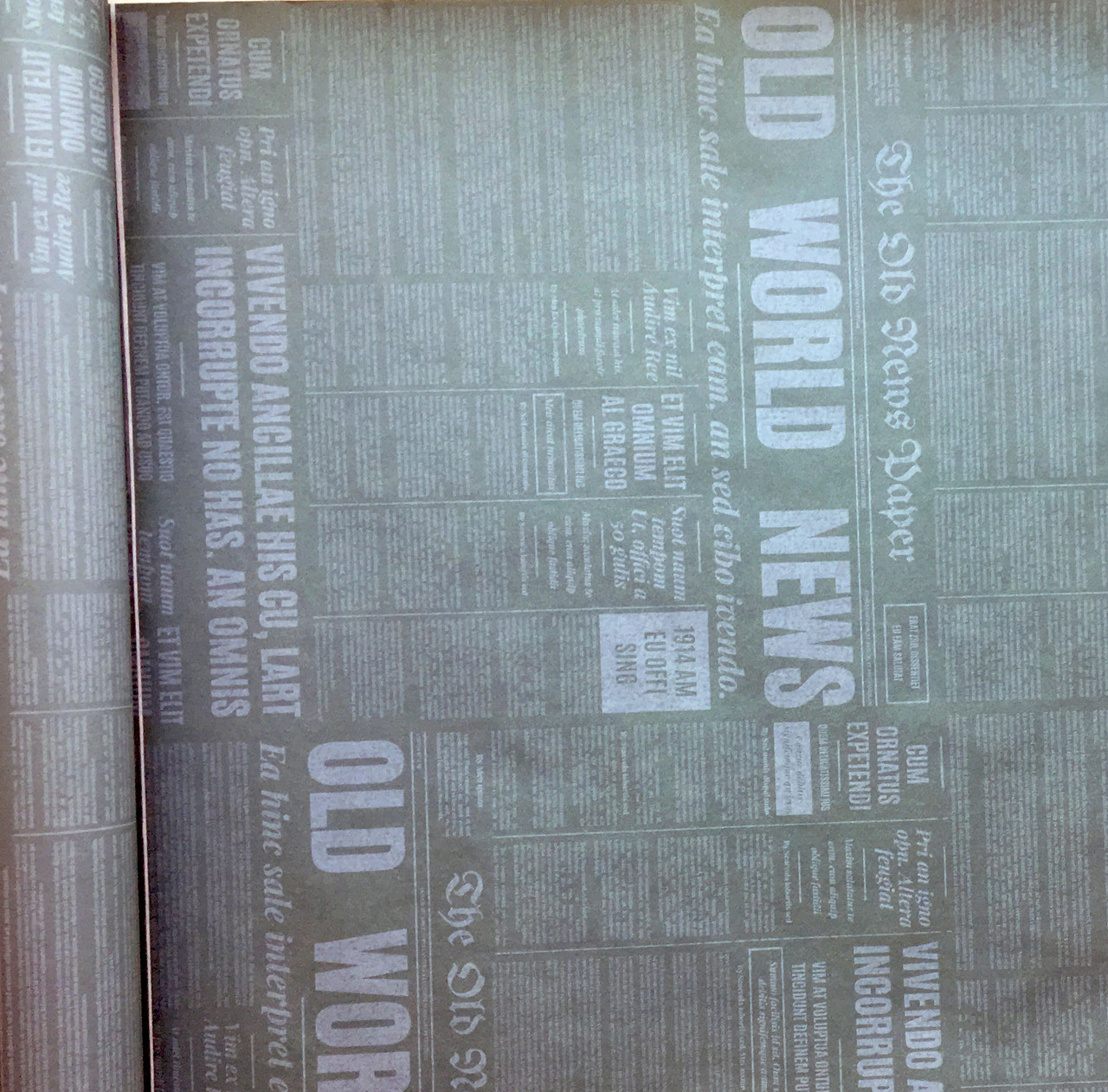 Бумага двухсторонняя Газета серая
