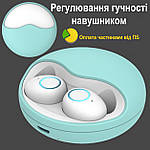 Бездротові Bluetooth-навушники безпровідні із зарядним чохлом-кейсом Wi-pods K10 Bluetooth 5.0. М'ятні., фото 2
