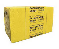 Акустическая минеральная вата 50х600х1000 мм AcousticWool Sonet 48 кг/куб.м.